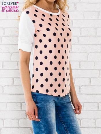 Łososiowa bluzka w groszki                                  zdj.                                  3