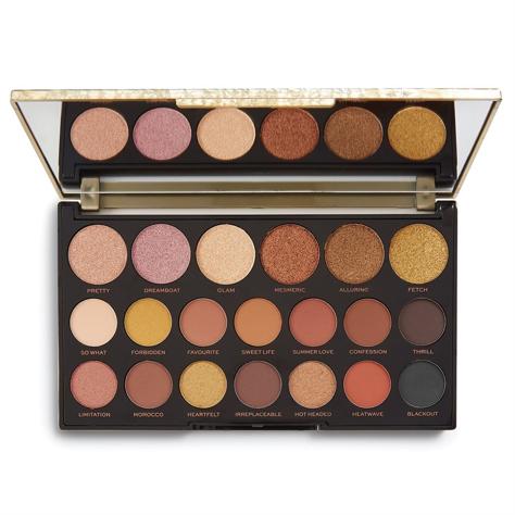 Makeup Revolution Jewel Collection Palette 20 Zestaw cieni do powiek Gilded (20 kolorów) 13g