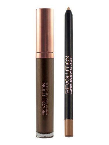 Makeup Revolution Retro Luxe Metallic Lip Kit Zestaw do ust konturówka 1g + pomadka w płynie 5,5ml Sovereign                              zdj.                              2