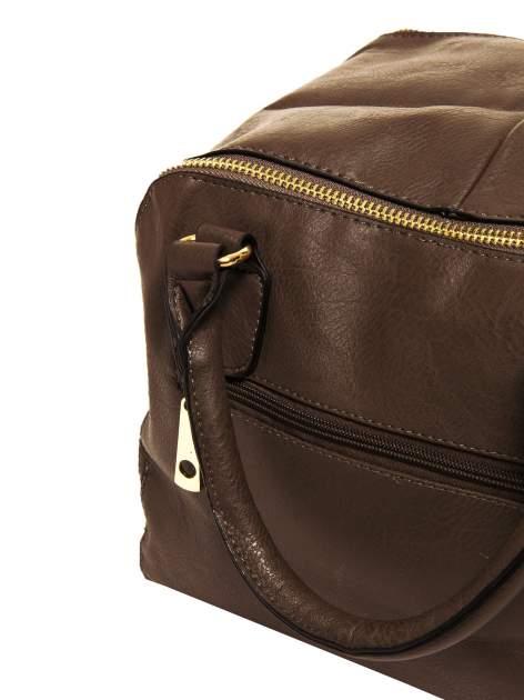 Miękki kuferek w kolorze kawowym                                  zdj.                                  7