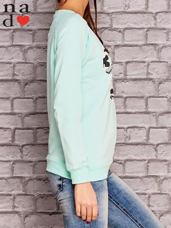 Miętowa bluza z nadrukiem moro                                  zdj.                                  3