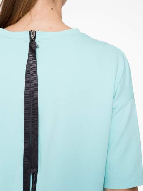 Miętowa bluza z suwakiem z tyłu                                  zdj.                                  10