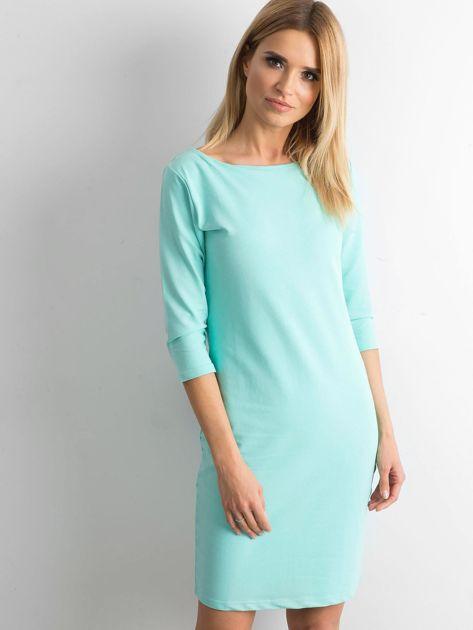 Miętowa sukienka z bawełny                              zdj.                              1
