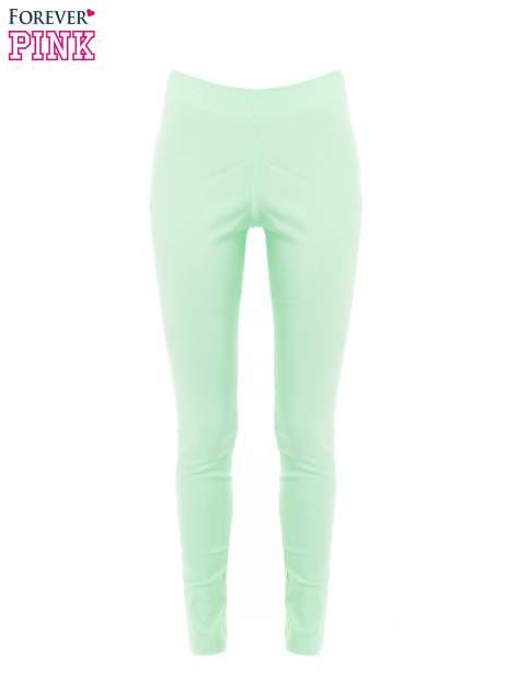 Miętowe dopasowane spodnie typu tregginsy                                  zdj.                                  4