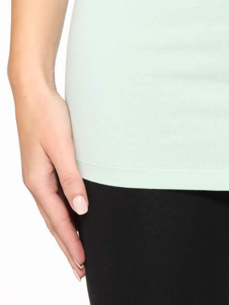 Miętowy jednolity top na szerokich ramiączkach                                  zdj.                                  7