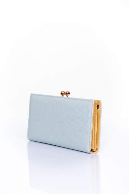 Miętowy portfel z biglem efekt saffiano                                   zdj.                                  2