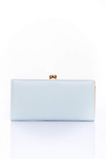 Miętowy portfel z biglem efekt saffiano                                   zdj.                                  1
