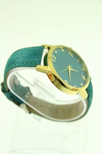 Miętowy zegarek damski z imitacją jeansu na skórzanym pasku                                  zdj.                                  2