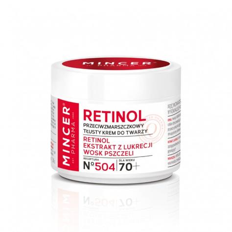 """Mincer Pharma Retinol Krem przeciwzmarszczkowy - tłusty 70+ nr 504  50ml"""""""