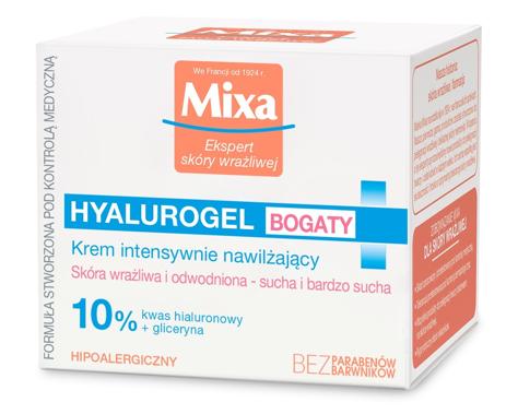 """Mixa Hyalurogel Bogaty krem intensywnie nawilżający  50ml"""""""