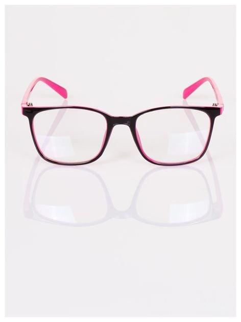 Modne klasyczne dwukolorowe okulary zerówki dla kobiet i mężczyzn- soczewki ANTYREFLEKS