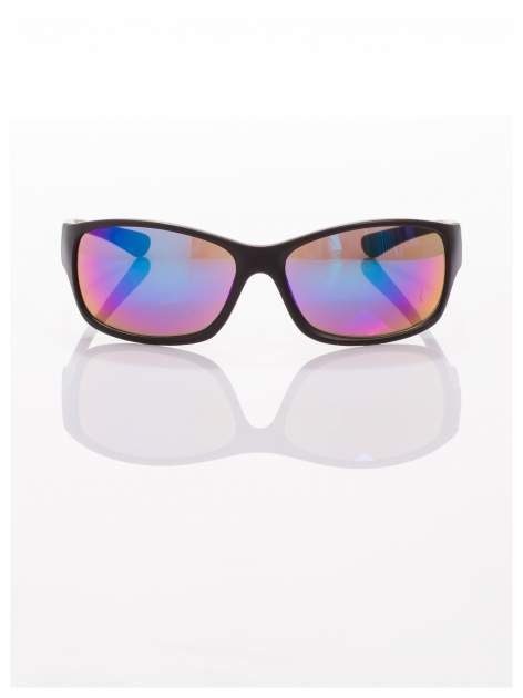 Modne męskie okulary przeciwsłoneczne niebiesko-zielone w sportowym stylu                                  zdj.                                  3
