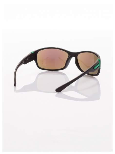 Modne męskie okulary przeciwsłoneczne niebiesko-zielone w sportowym stylu                                  zdj.                                  2
