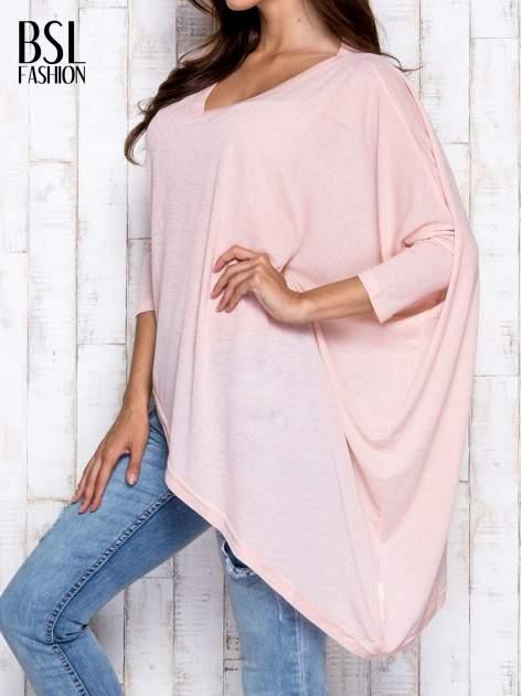 Morelowa melanżowa bluzka oversize                                  zdj.                                  4