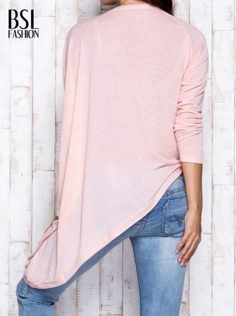 Morelowa melanżowa bluzka oversize                                  zdj.                                  5