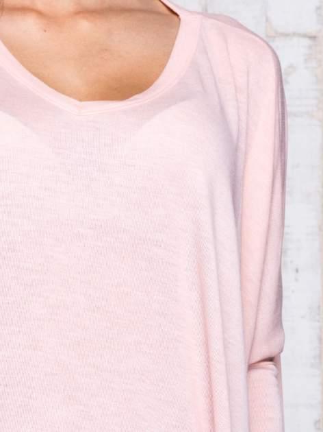 Morelowa melanżowa bluzka oversize                                  zdj.                                  6