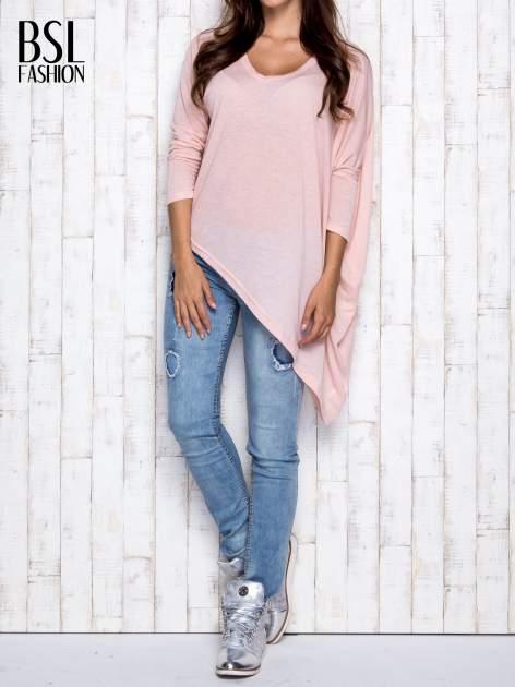 Morelowa melanżowa bluzka oversize                                  zdj.                                  7
