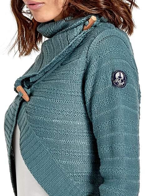 Morski krótki sweter narzutka z kołnierzem                                  zdj.                                  6