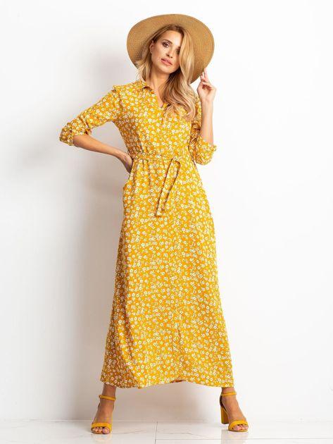 Musztardowa sukienka Icon                              zdj.                              1