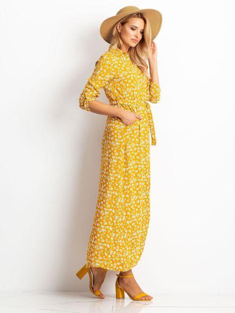 Musztardowa sukienka Icon                              zdj.                              3