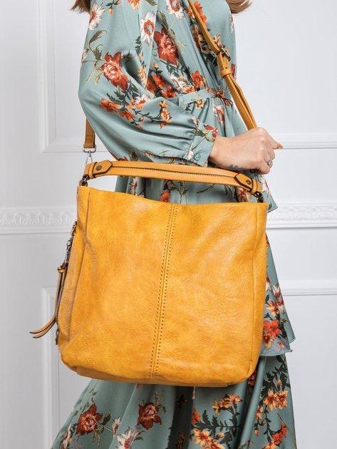 Musztardowa torba z ekologicznej skóry