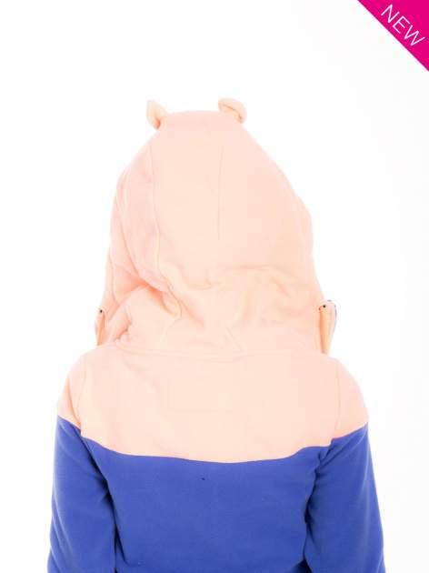 Niebieska bluza polarowa z kapturem z uszkami                                  zdj.                                  6