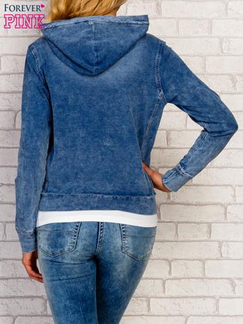 Niebieska bluza z kapturem z denimu                                  zdj.                                  5