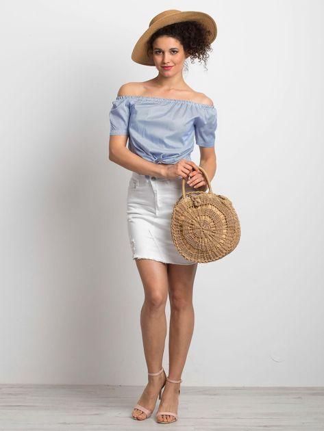 Niebieska bluzka Ladylike                              zdj.                              4