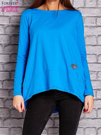 Niebieska bluzka z wiązaniem na plecach                                  zdj.                                  1