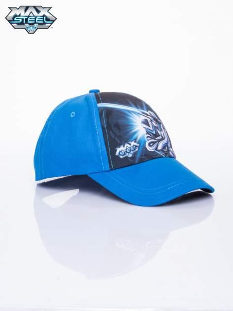 Niebieska chłopięca czapka z daszkiem MAX STEEL                                  zdj.                                  2