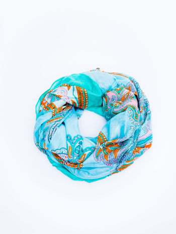 Niebieska chusta we wzór paisley                                  zdj.                                  2