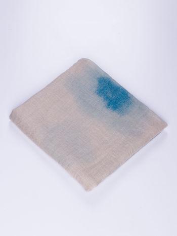 Niebieska chusta z efektem ombre                                  zdj.                                  2