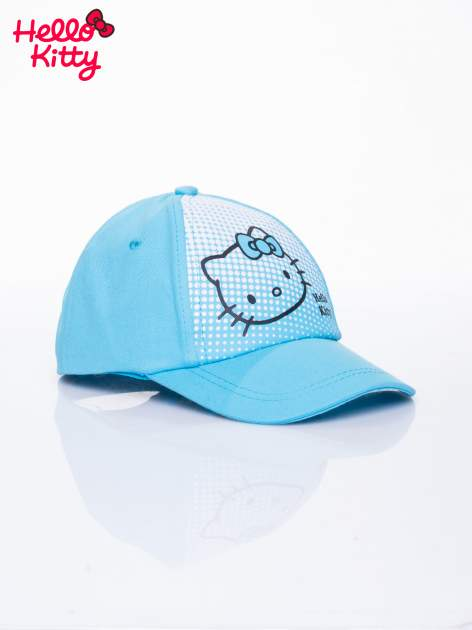 Niebieska czapka z daszkiem dla dziewczynki HELLO KITTY                                  zdj.                                  2