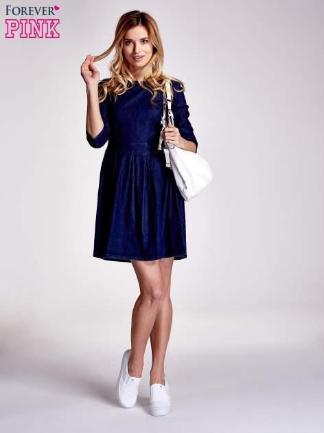 Niebieska denimowa sukienka                                  zdj.                                  5