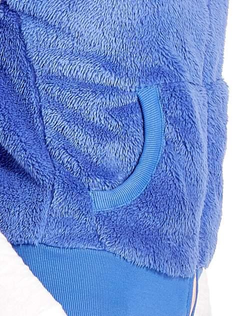 Niebieska kamizelka z polaru z kapturem z uszkami                                  zdj.                                  6