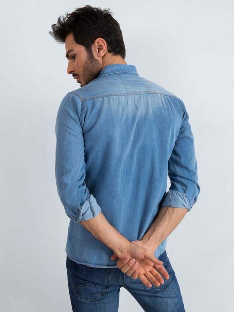 Niebieska koszula męska Jeanswear                              zdj.                              2