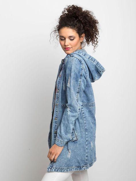 Niebieska kurtka jeansowa Blessing                              zdj.                              3
