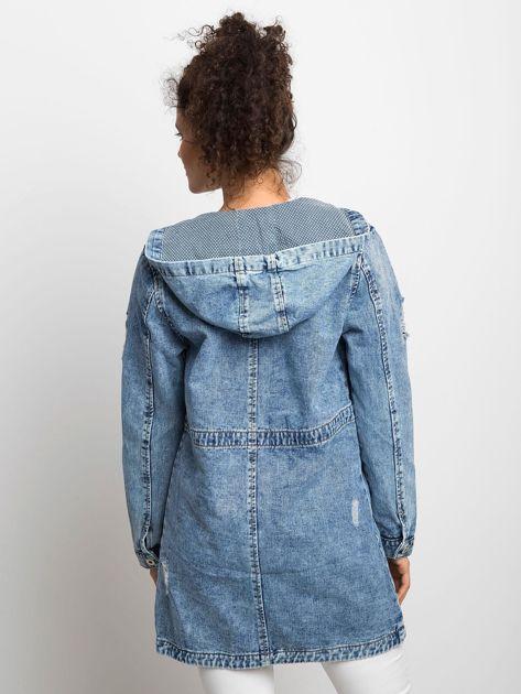 Niebieska kurtka jeansowa Blessing                              zdj.                              2