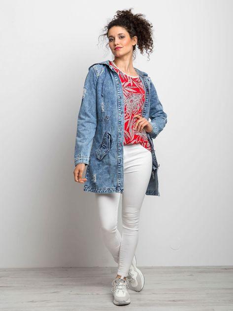 Niebieska kurtka jeansowa Blessing                              zdj.                              4