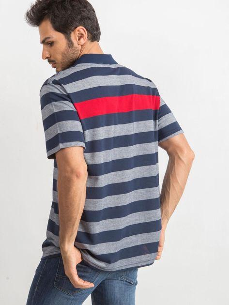 Niebieska męska koszulka polo Stampede                              zdj.                              2