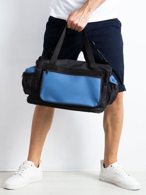 Niebieska męska torba treningowa                              zdj.                              3