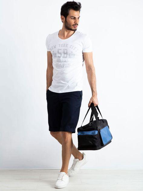 Niebieska męska torba treningowa                              zdj.                              4