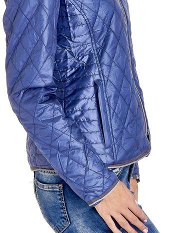 Niebieska pikowana kurtka typu husky                                  zdj.                                  5