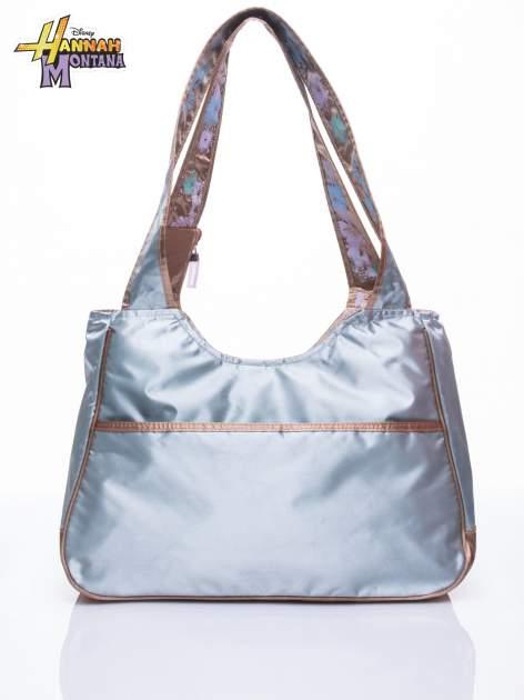 Niebieska satynowa torba szkolna DISNEY Hannah Montana                                  zdj.                                  3