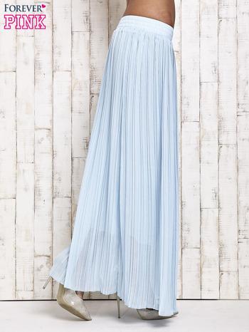 Niebieska spódnica maxi w plisy                                  zdj.                                  3