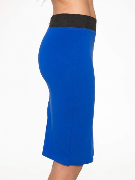 Niebieska spódnica tuba z zamkiem z tyłu                                  zdj.                                  6
