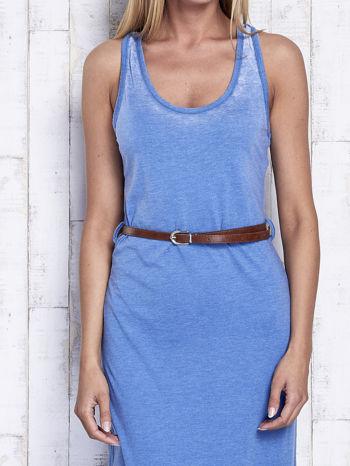 Niebieska sukienka maxi acid wash                                  zdj.                                  5