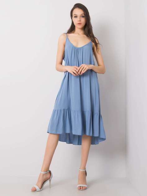 Niebieska sukienka z falbaną Madilyn OCH BELLA