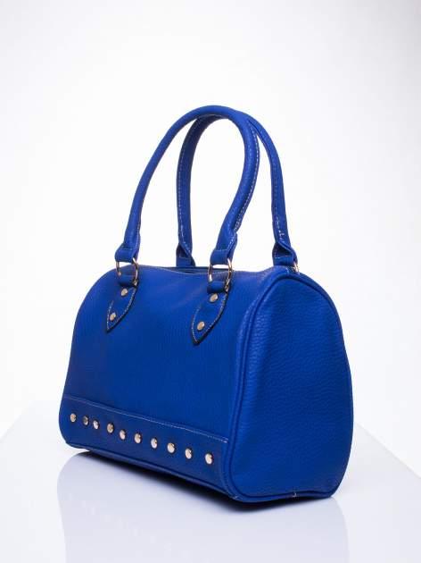 Niebieska torba bowling ze złotymi dżetami                                  zdj.                                  3