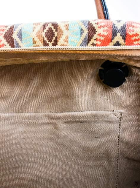 Niebieska torba gumowa z motywem azteckim                                  zdj.                                  9